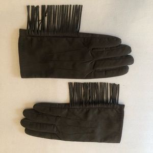 Accessories - Olive Green gloves with Fringe